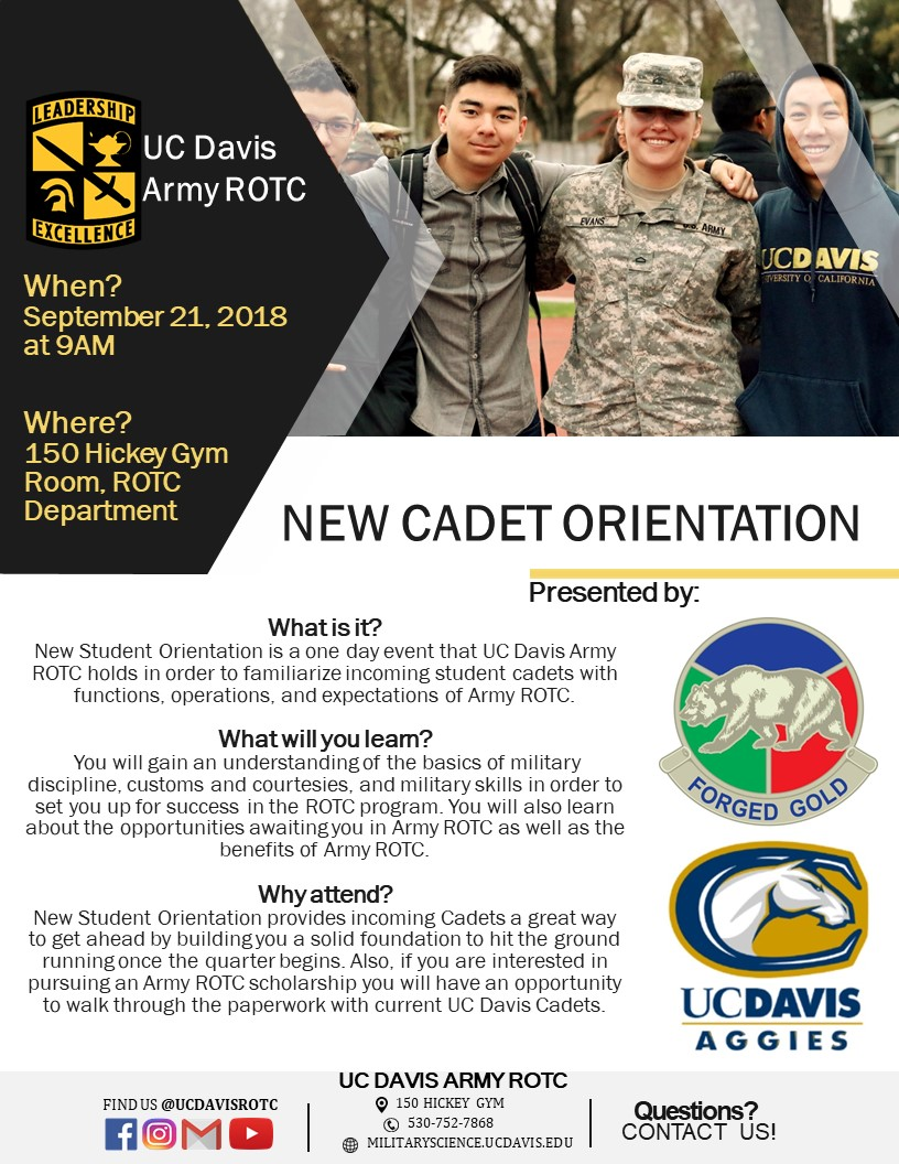 UC Davis New Cadet Orientation