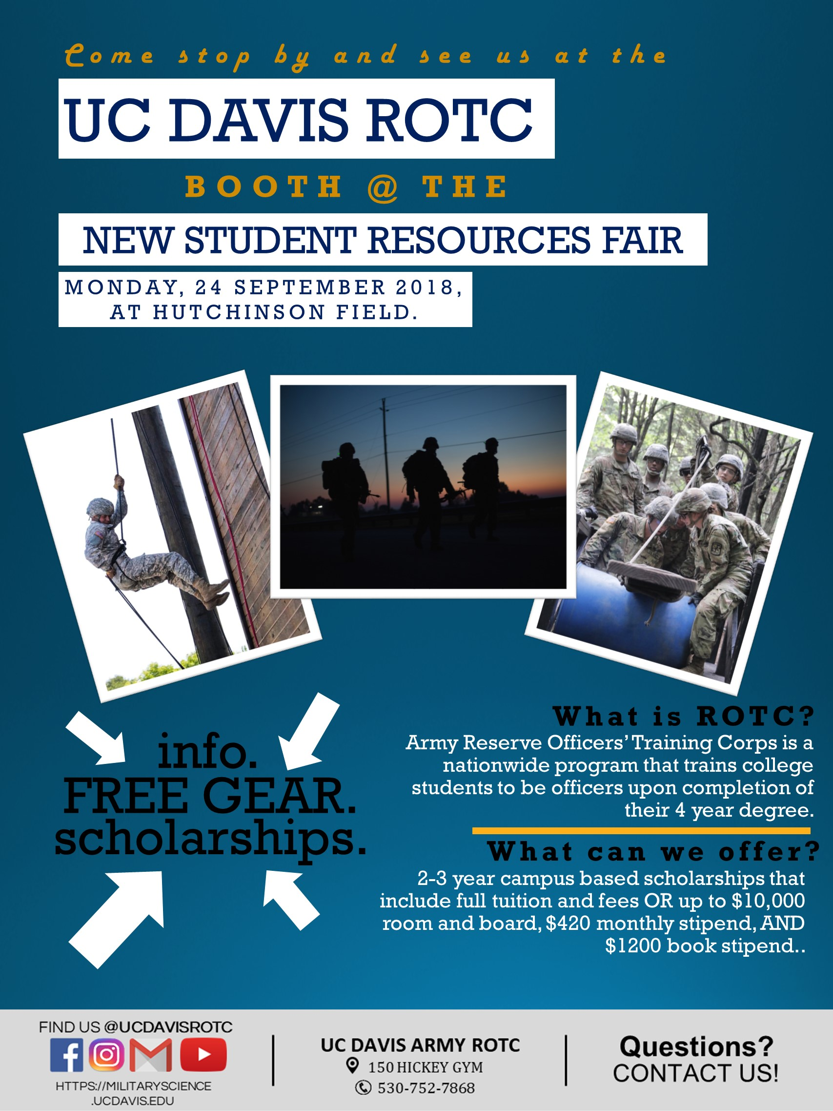 UC Davis New Student Resource Fair Flyer